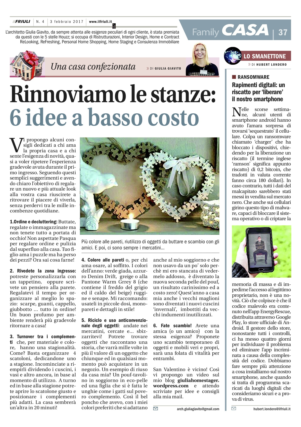 rinnovo stanze low cost