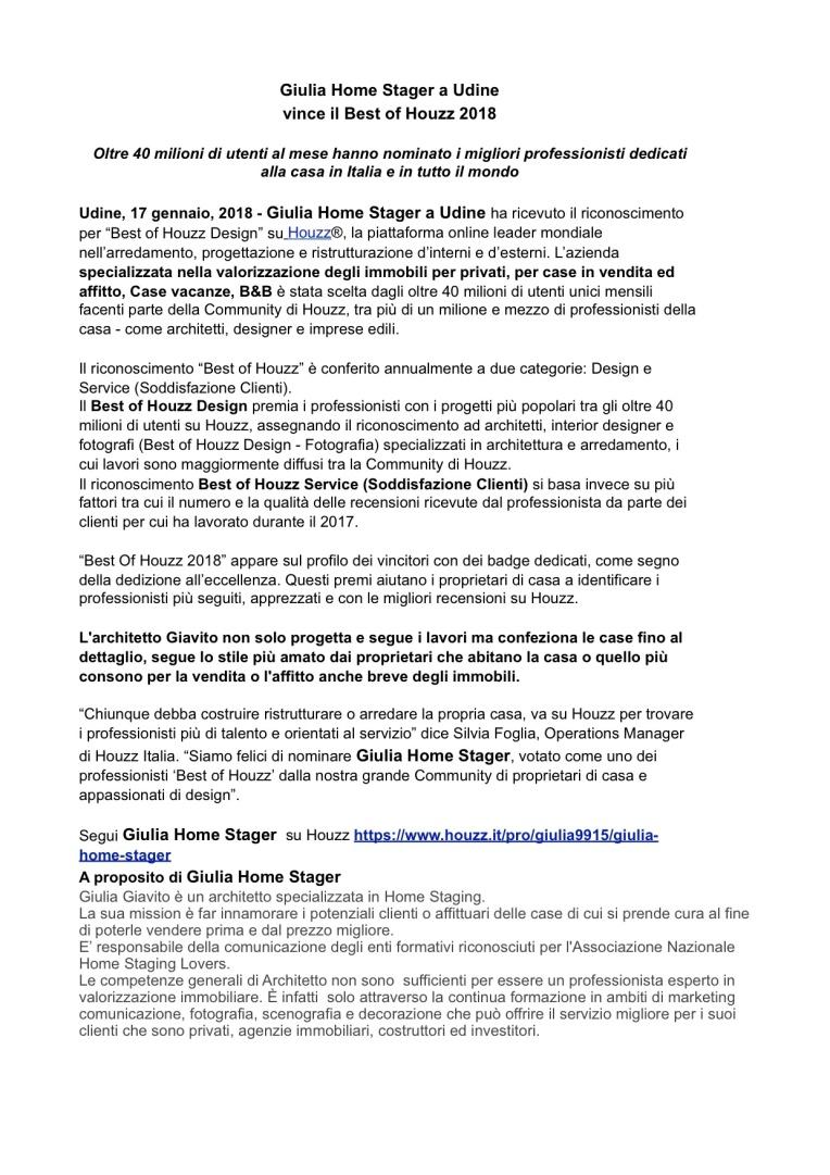 Comunicato stampa Best of Houzz service 2018 1di2