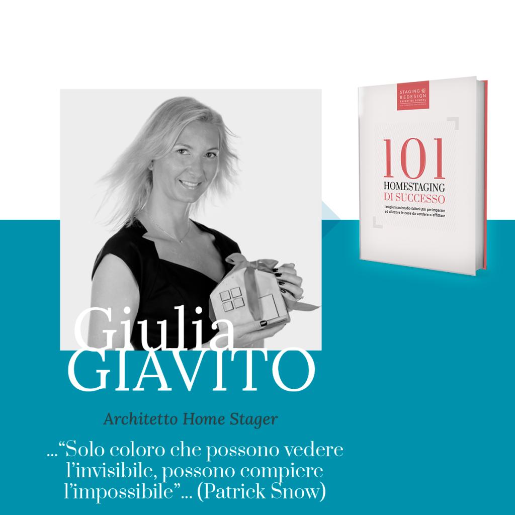 Giulia Giavito, libro 101 homestaging di successo, architetto, home stager,friuli, Udine, Pordenone, Gorizia,